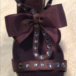 Linea Paolo purple strapping heels sz10
